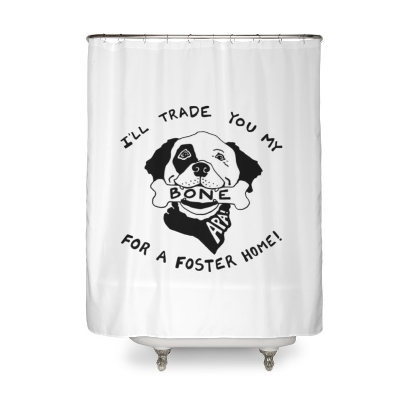 For the Love of Fostering Home Shower Curtain by Austin Pets Alive's Artist Shop