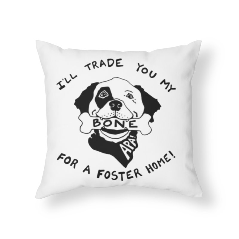 For the Love of Fostering Home Throw Pillow by Austin Pets Alive's Artist Shop