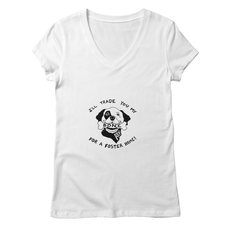 For the Love of Fostering Women's Regular V-Neck by Austin Pets Alive's Artist Shop