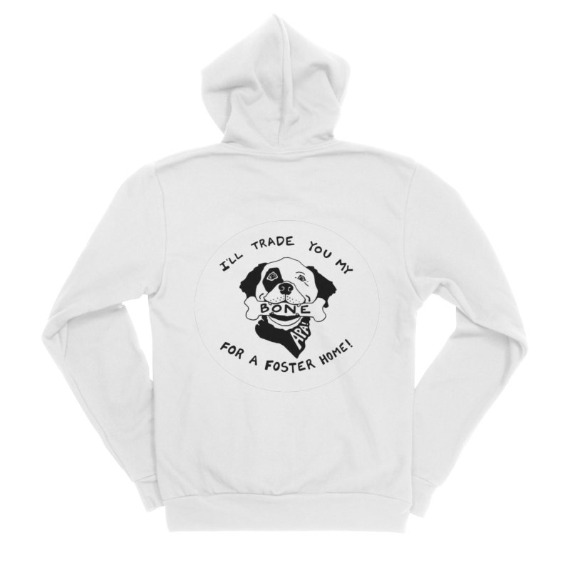 For the Love of Fostering Men's Sponge Fleece Zip-Up Hoody by Austin Pets Alive's Artist Shop