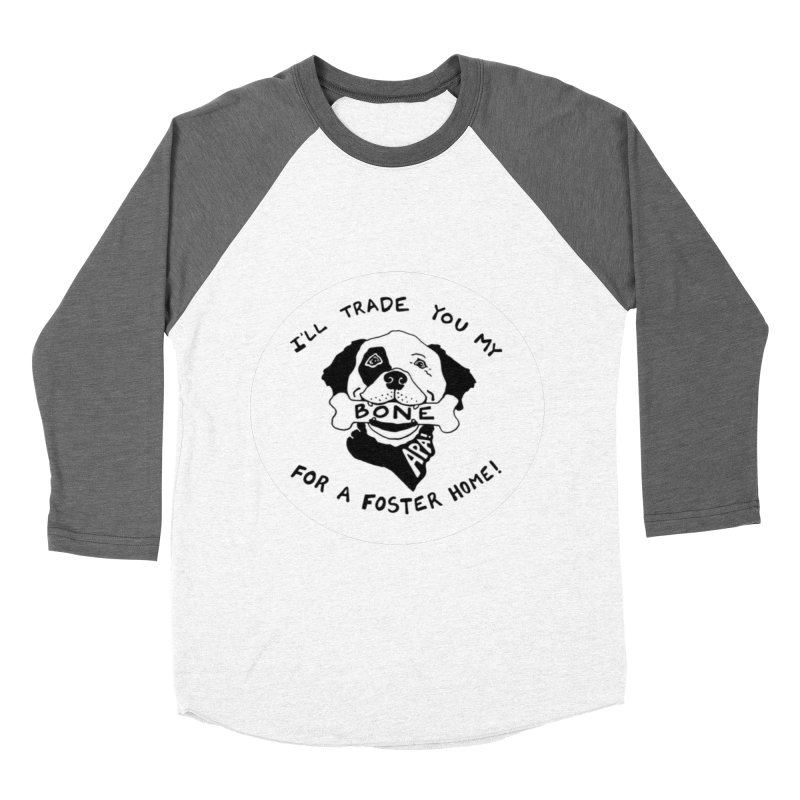For the Love of Fostering Men's Baseball Triblend Longsleeve T-Shirt by Austin Pets Alive's Artist Shop