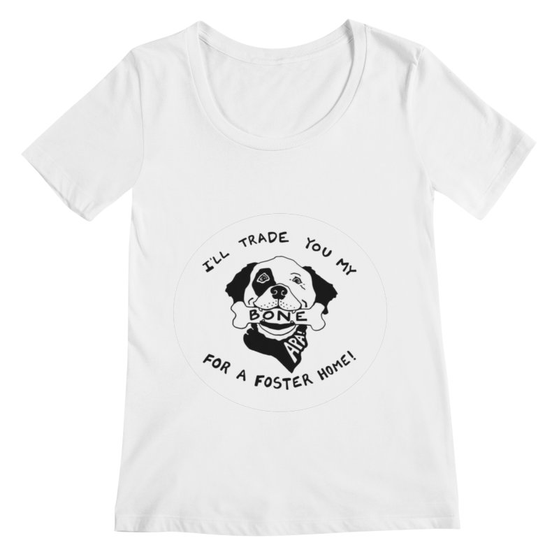For the Love of Fostering Women's Regular Scoop Neck by Austin Pets Alive's Artist Shop