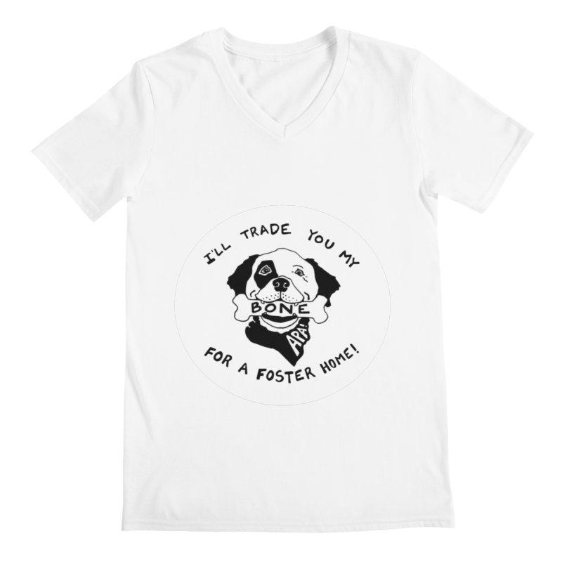 For the Love of Fostering Men's Regular V-Neck by Austin Pets Alive's Artist Shop