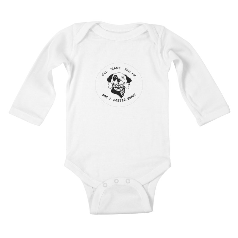 For the Love of Fostering Kids Baby Longsleeve Bodysuit by Austin Pets Alive's Artist Shop