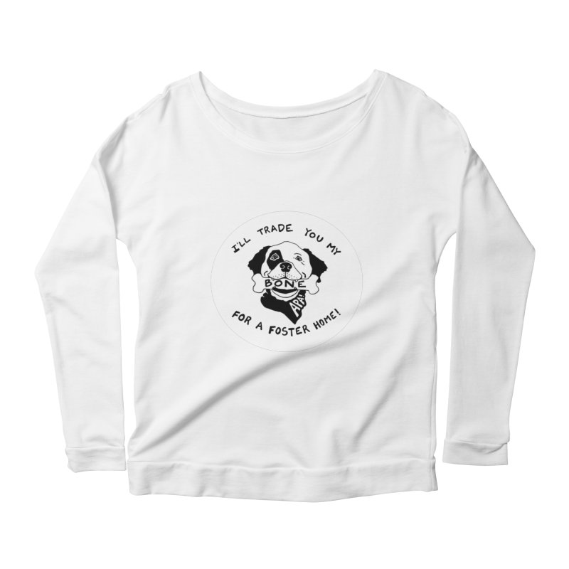 For the Love of Fostering Women's Scoop Neck Longsleeve T-Shirt by Austin Pets Alive's Artist Shop