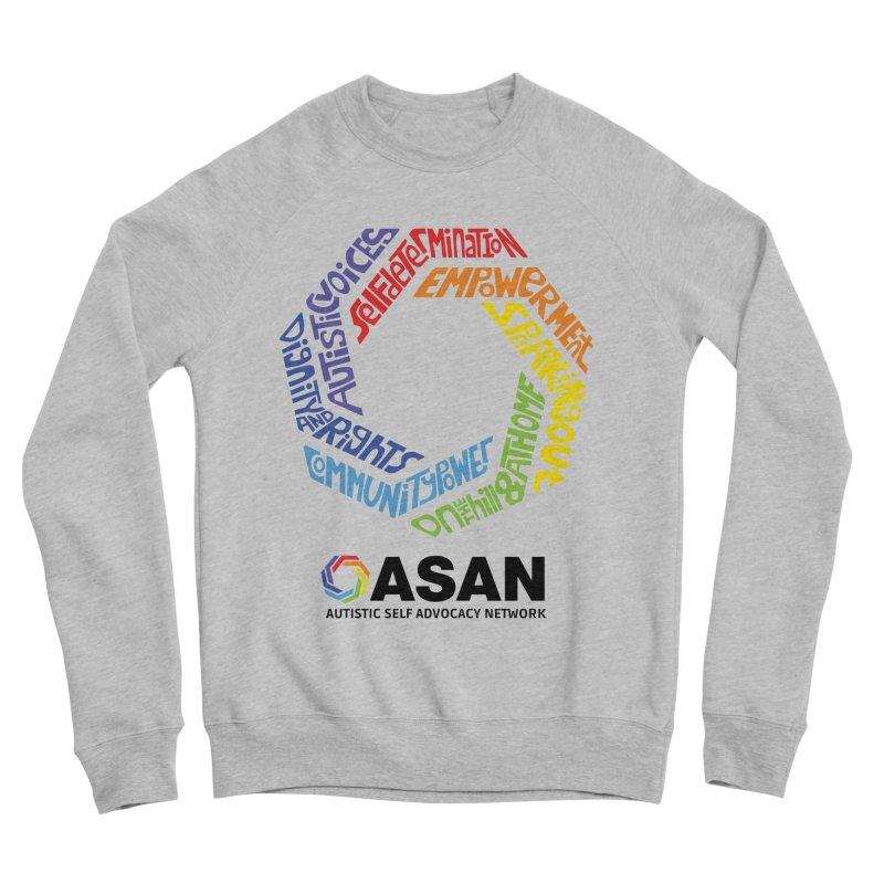 Typographic Logo Women's Sponge Fleece Sweatshirt by Autistic Self Advocacy Network Shop