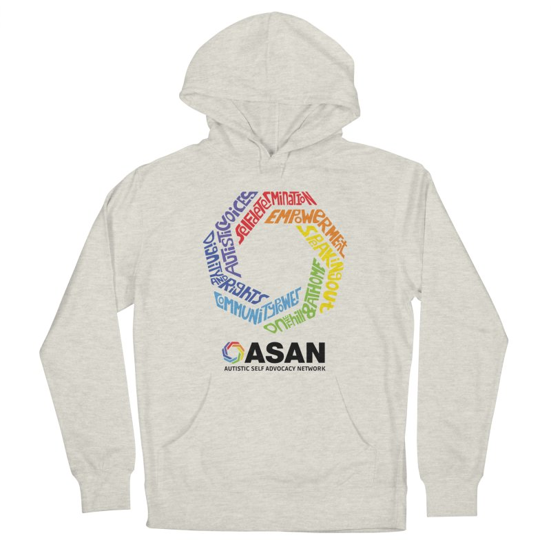 Typographic Logo Women's French Terry Pullover Hoody by Autistic Self Advocacy Network Shop