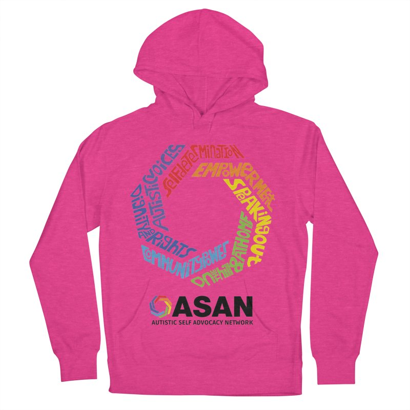 Typographic Logo Men's French Terry Pullover Hoody by Autistic Self Advocacy Network Shop