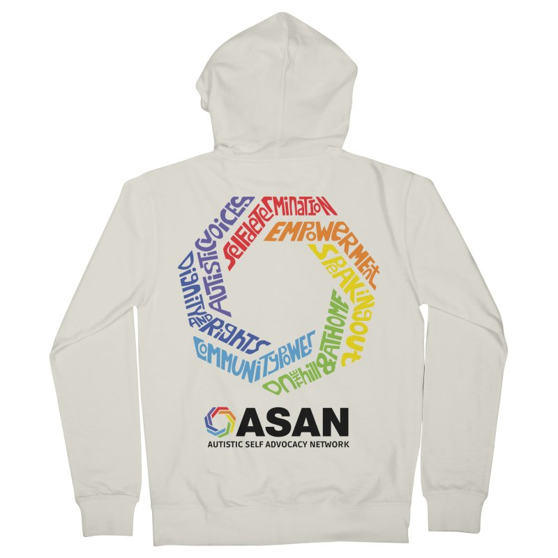 Typographic Logo Men's French Terry Zip-Up Hoody by Autistic Self Advocacy Network Shop