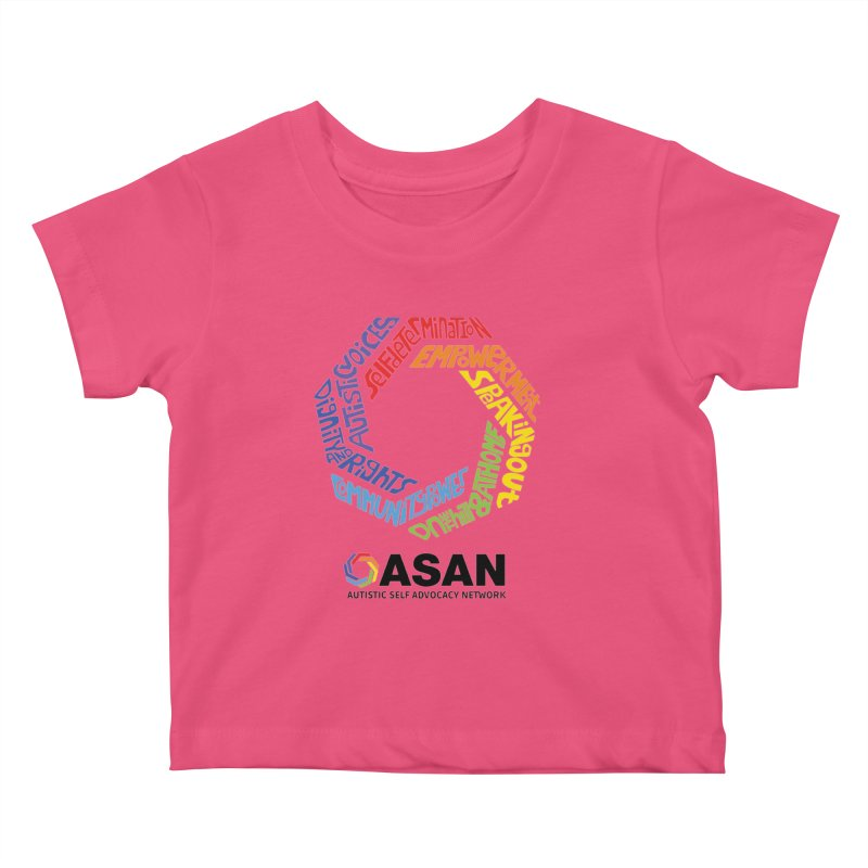 Typographic Logo Kids Baby T-Shirt by Autistic Self Advocacy Network Shop