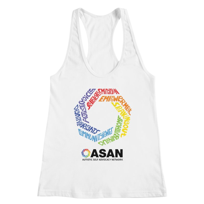 Typographic Logo Women's Racerback Tank by Autistic Self Advocacy Network Shop