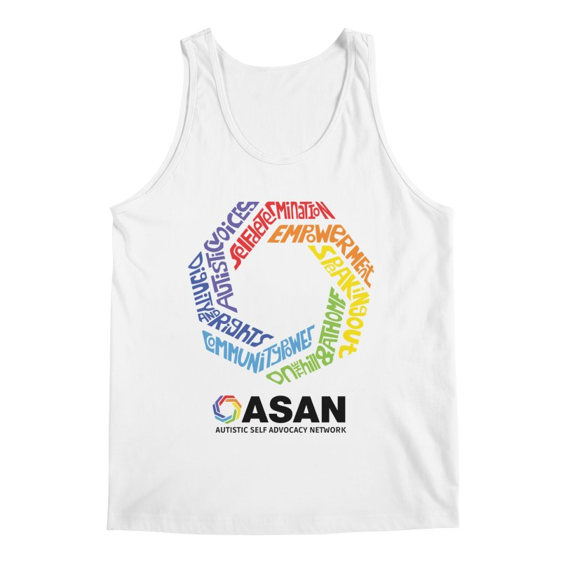 Typographic Logo Men's Regular Tank by Autistic Self Advocacy Network Shop