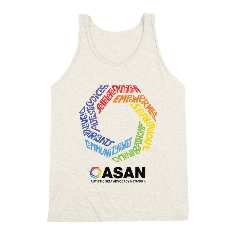 Typographic Logo Men's Triblend Tank by Autistic Self Advocacy Network Shop