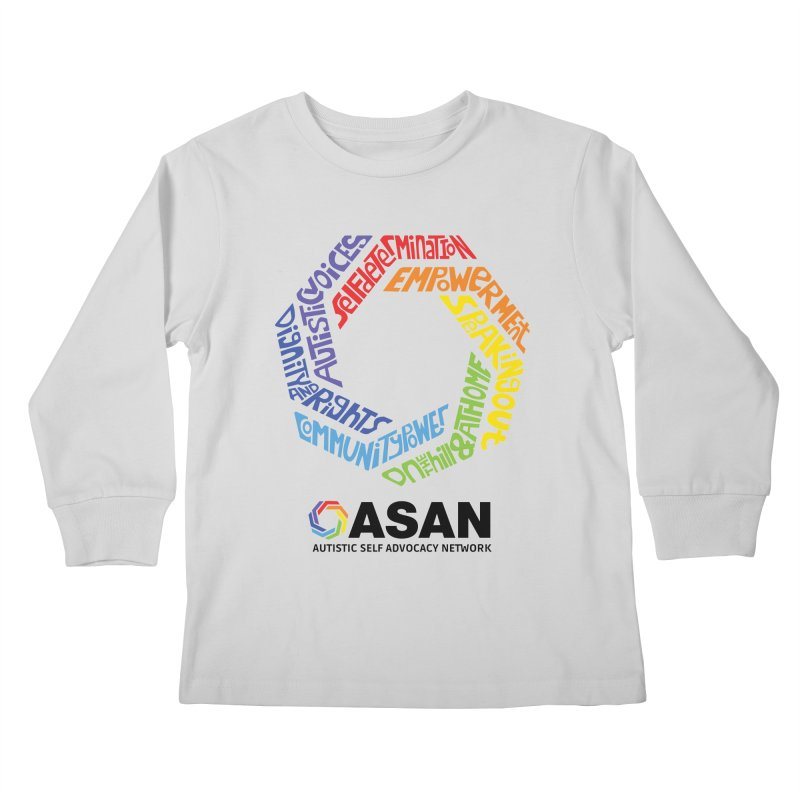 Typographic Logo Kids Longsleeve T-Shirt by Autistic Self Advocacy Network Shop