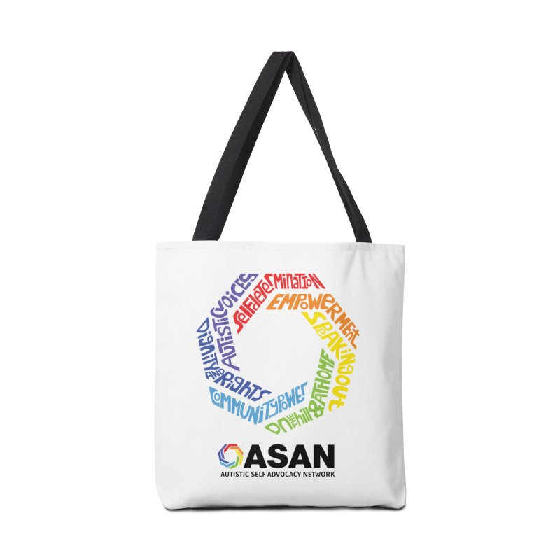 Typographic Logo Accessories Tote Bag Bag by Autistic Self Advocacy Network Shop