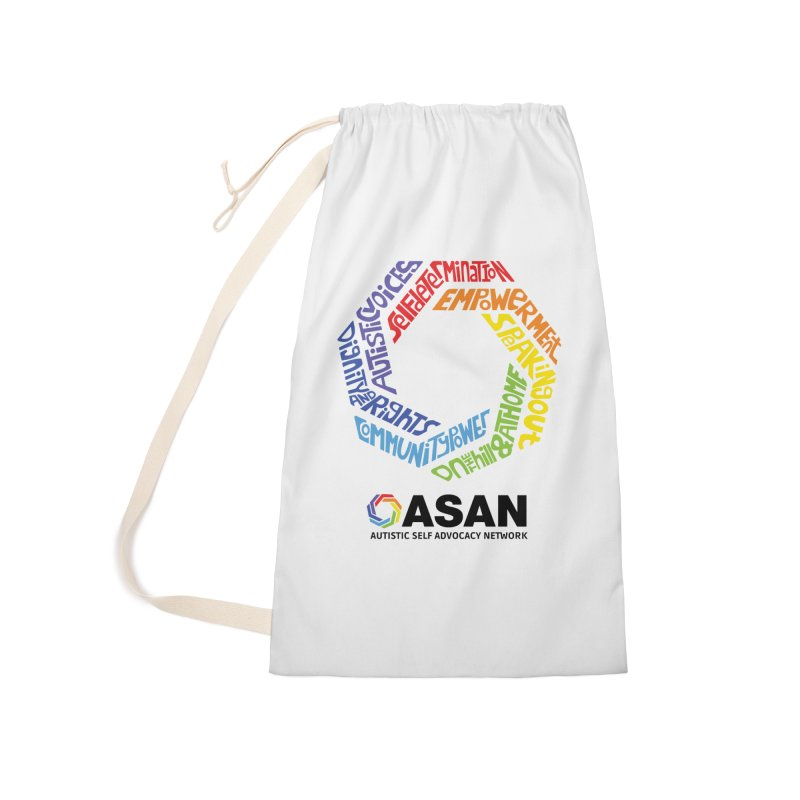 Typographic Logo Accessories Laundry Bag Bag by Autistic Self Advocacy Network Shop