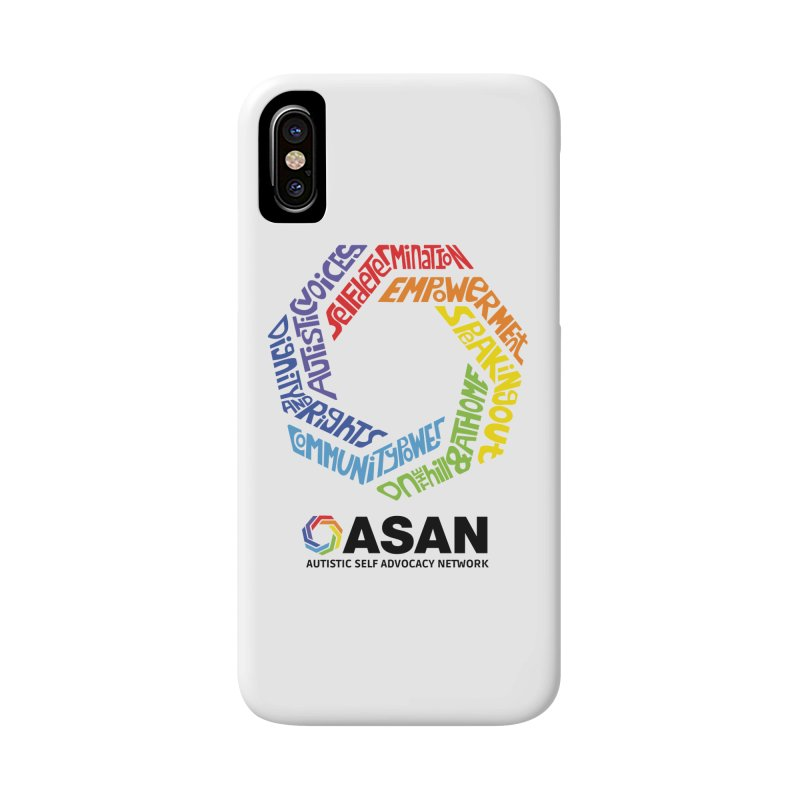Typographic Logo Accessories Phone Case by Autistic Self Advocacy Network Shop