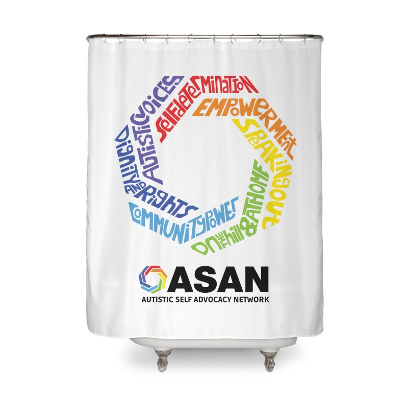 Typographic Logo Home Shower Curtain by Autistic Self Advocacy Network Shop