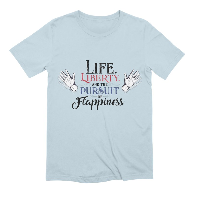 Pursuit of Flappiness Men's Extra Soft T-Shirt by Autistic Self Advocacy Network Shop