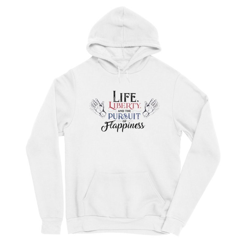 Pursuit of Flappiness Men's Sponge Fleece Pullover Hoody by Autistic Self Advocacy Network Shop