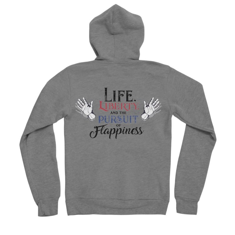 Pursuit of Flappiness Women's Sponge Fleece Zip-Up Hoody by Autistic Self Advocacy Network Shop