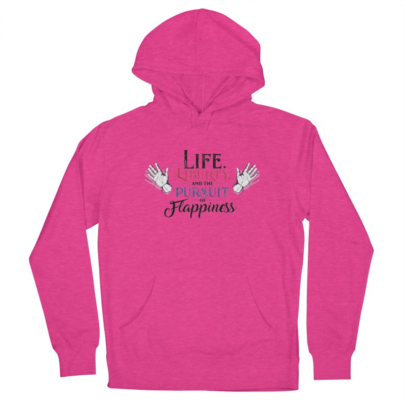 Pursuit of Flappiness Women's French Terry Pullover Hoody by Autistic Self Advocacy Network Shop