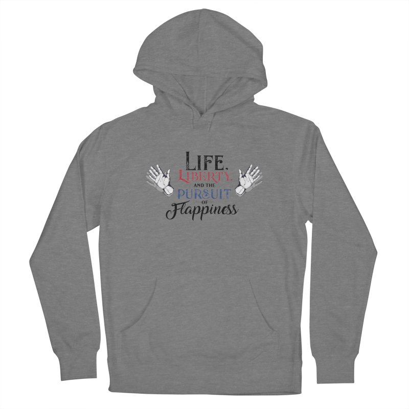 Pursuit of Flappiness Men's French Terry Pullover Hoody by Autistic Self Advocacy Network Shop