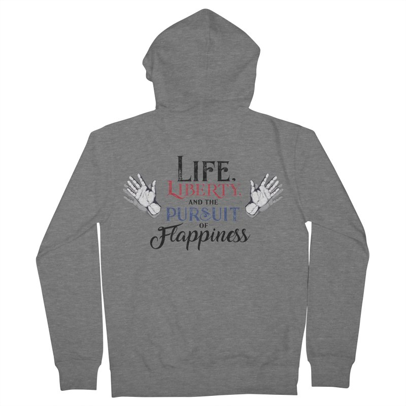 Pursuit of Flappiness Women's French Terry Zip-Up Hoody by Autistic Self Advocacy Network Shop