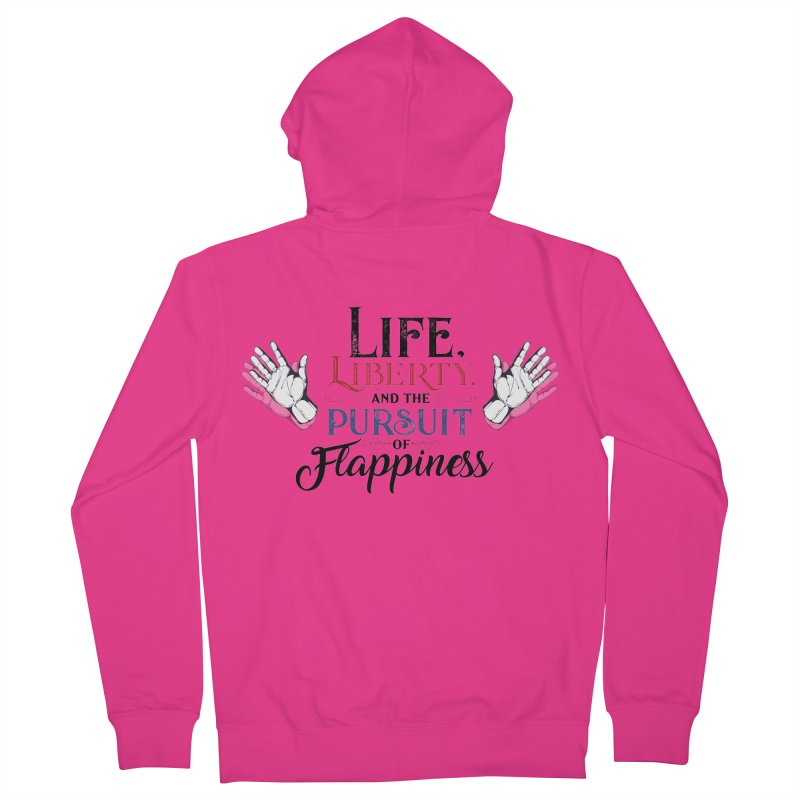 Pursuit of Flappiness Men's French Terry Zip-Up Hoody by Autistic Self Advocacy Network Shop