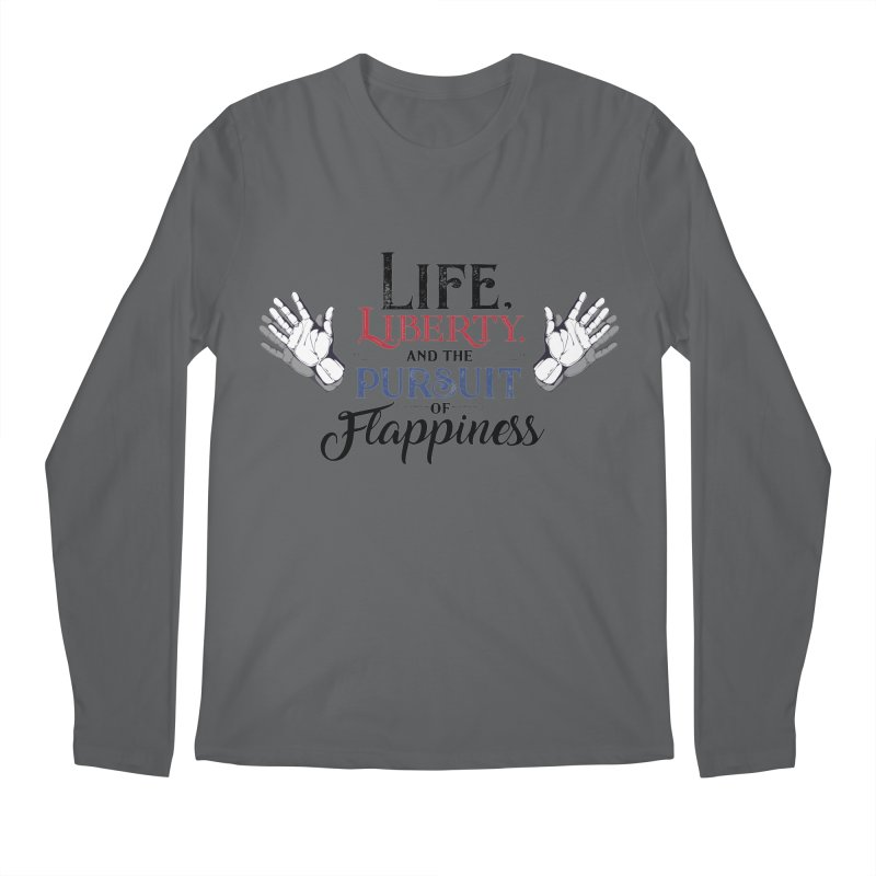 Pursuit of Flappiness Men's Regular Longsleeve T-Shirt by Autistic Self Advocacy Network Shop