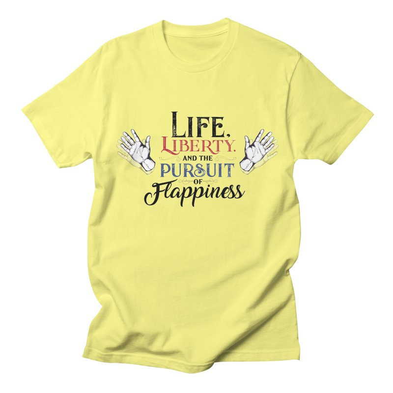 Pursuit of Flappiness Women's Regular Unisex T-Shirt by Autistic Self Advocacy Network Shop
