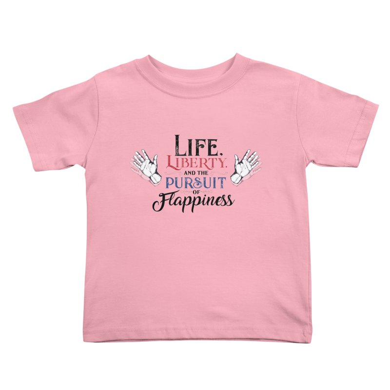 Pursuit of Flappiness Kids Toddler T-Shirt by Autistic Self Advocacy Network Shop