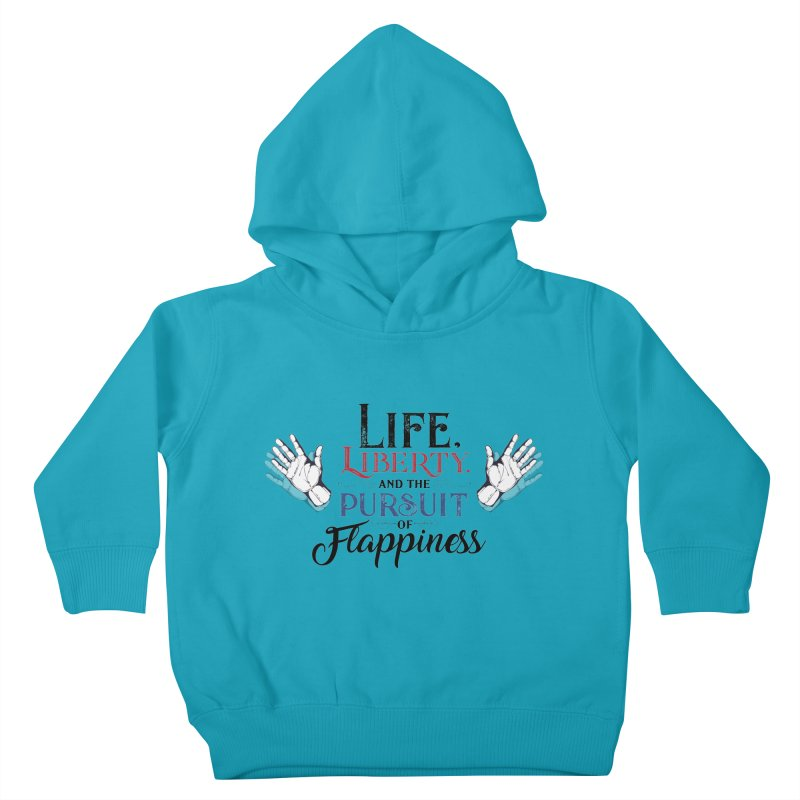 Pursuit of Flappiness Kids Toddler Pullover Hoody by Autistic Self Advocacy Network Shop