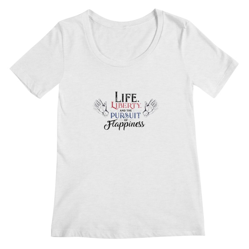 Pursuit of Flappiness Women's Regular Scoop Neck by Autistic Self Advocacy Network Shop