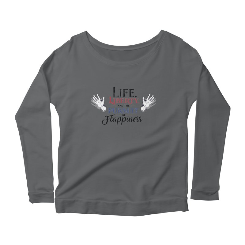 Pursuit of Flappiness Women's Scoop Neck Longsleeve T-Shirt by Autistic Self Advocacy Network Shop