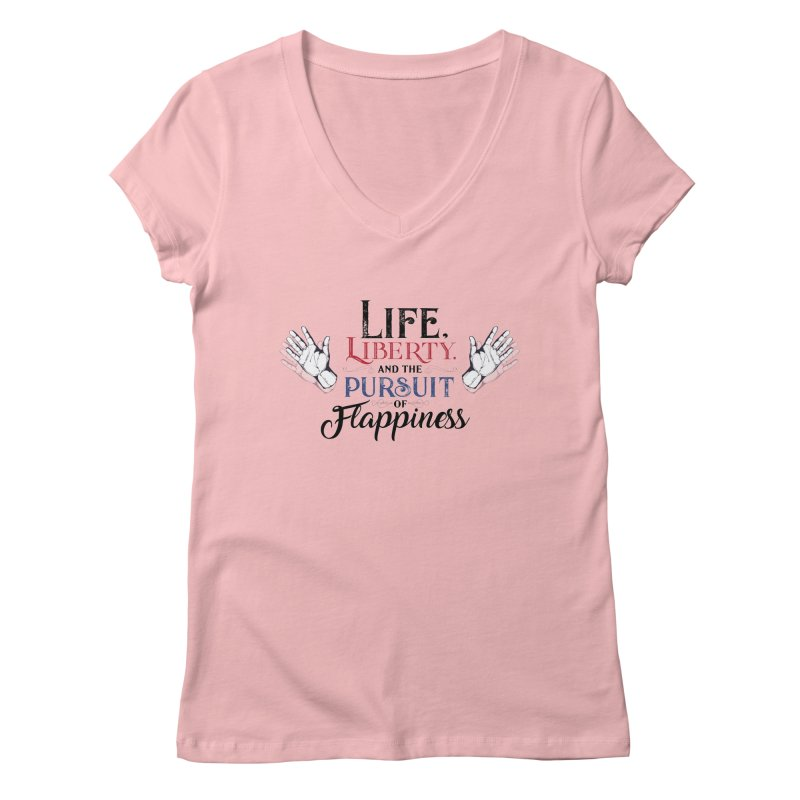 Pursuit of Flappiness Women's Regular V-Neck by Autistic Self Advocacy Network Shop