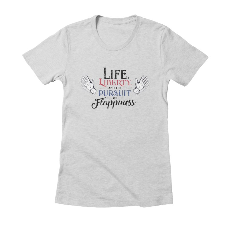 Pursuit of Flappiness Women's Fitted T-Shirt by Autistic Self Advocacy Network Shop