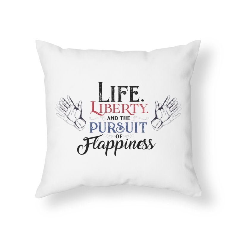 Pursuit of Flappiness Home Throw Pillow by Autistic Self Advocacy Network Shop
