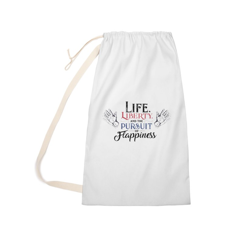 Pursuit of Flappiness Accessories Laundry Bag Bag by Autistic Self Advocacy Network Shop