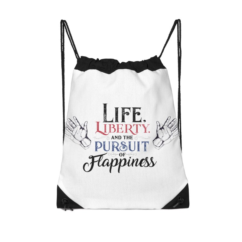 Pursuit of Flappiness Accessories Drawstring Bag Bag by Autistic Self Advocacy Network Shop