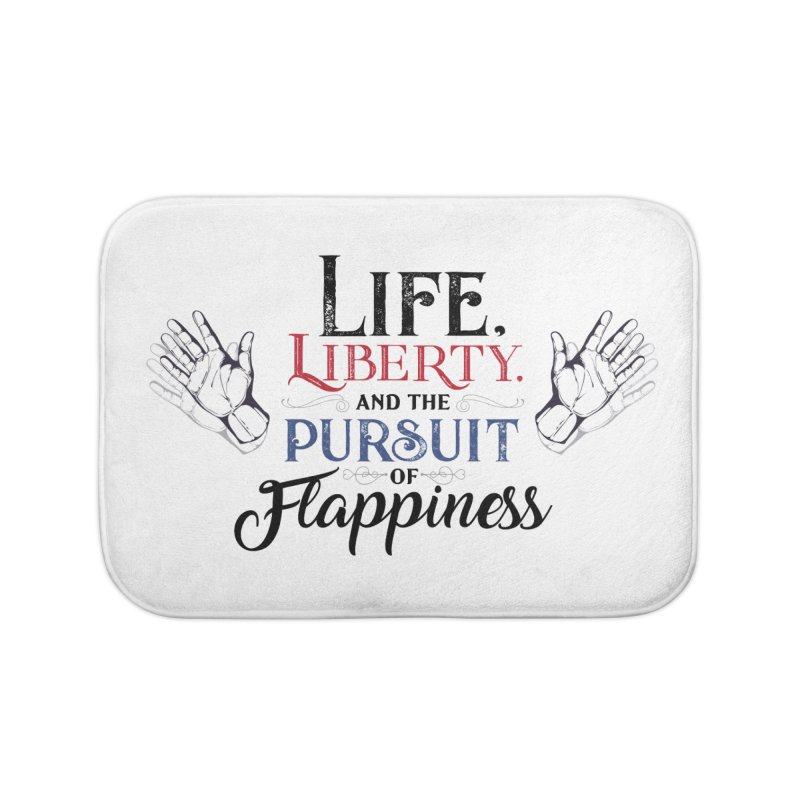 Pursuit of Flappiness Home Bath Mat by Autistic Self Advocacy Network Shop