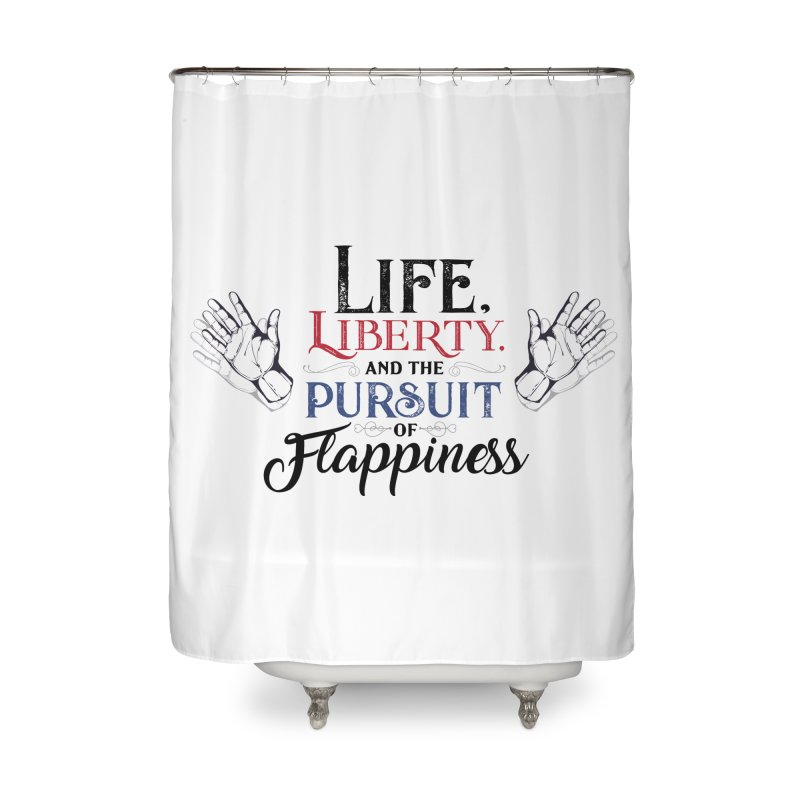 Pursuit of Flappiness Home Shower Curtain by Autistic Self Advocacy Network Shop