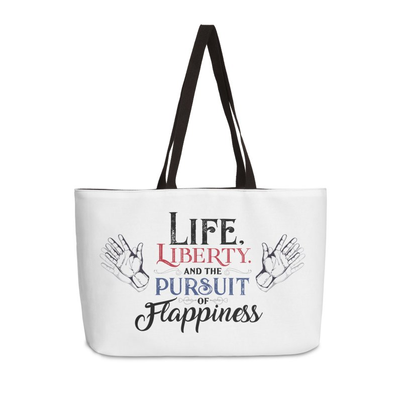Pursuit of Flappiness Accessories Weekender Bag Bag by Autistic Self Advocacy Network Shop