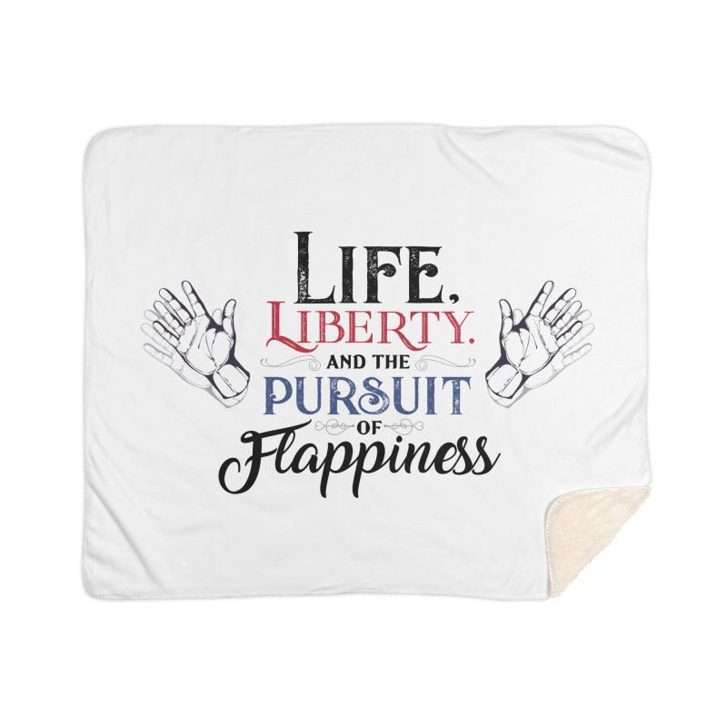 Pursuit of Flappiness Home Sherpa Blanket Blanket by Autistic Self Advocacy Network Shop