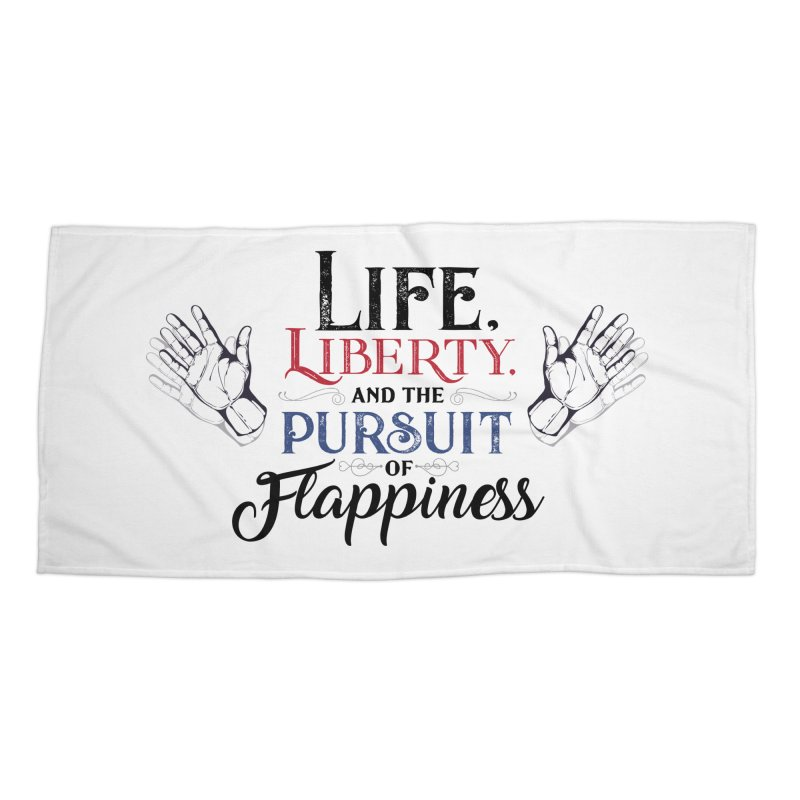 Pursuit of Flappiness Accessories Beach Towel by Autistic Self Advocacy Network Shop