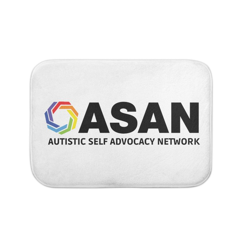 Horizontal Logo Home Bath Mat by Autistic Self Advocacy Network Shop