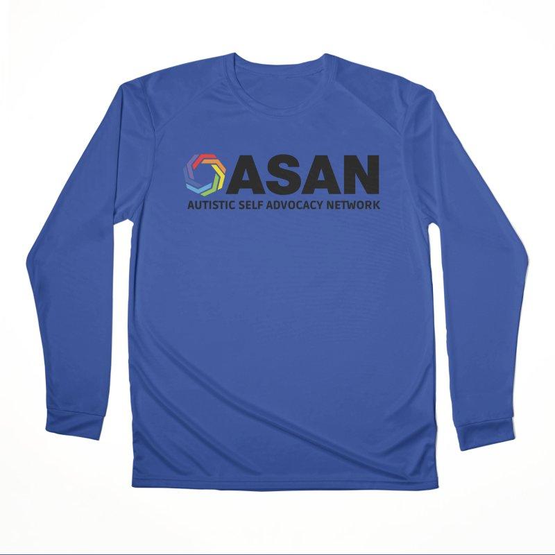 Horizontal Logo Men's Performance Longsleeve T-Shirt by Autistic Self Advocacy Network Shop