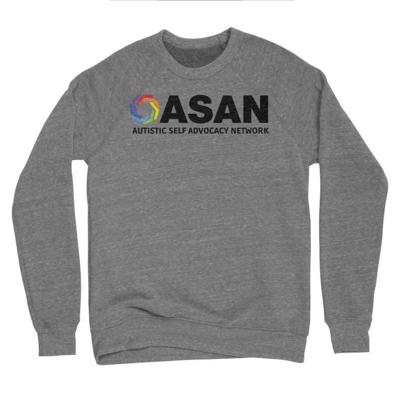 Horizontal Logo Men's Sponge Fleece Sweatshirt by Autistic Self Advocacy Network Shop