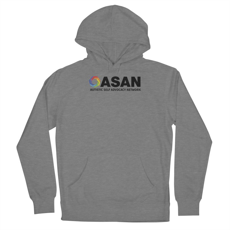 Horizontal Logo Men's French Terry Pullover Hoody by Autistic Self Advocacy Network Shop