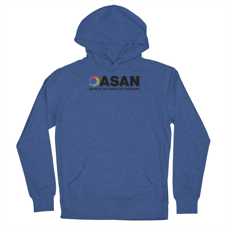 Horizontal Logo Women's French Terry Pullover Hoody by Autistic Self Advocacy Network Shop